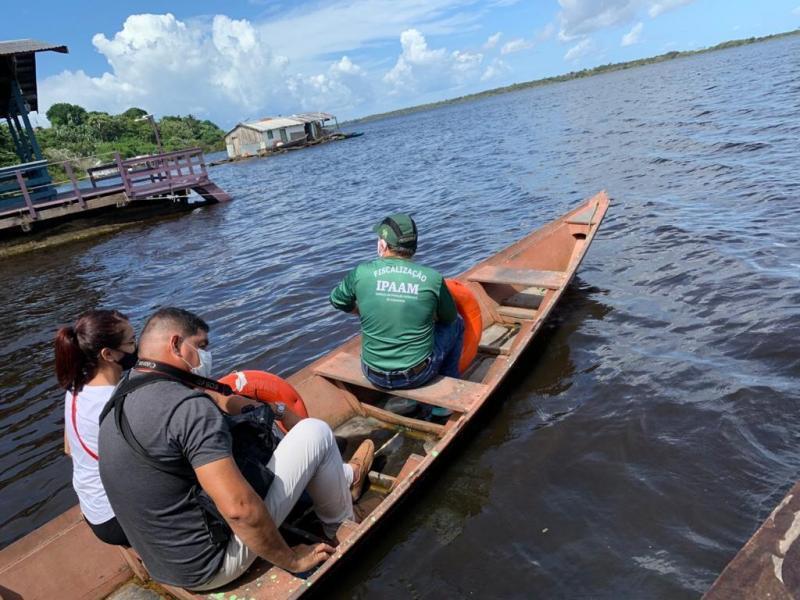 Em Manaus, Ipaam constata despejo irregular no Lago da Colônia e multa fábrica em R$ 330 mil