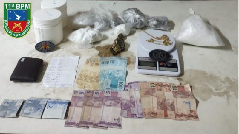 Força Tática do 11° BPM prende em flagrante duas pessoas por tráfico de drogas no Palmares