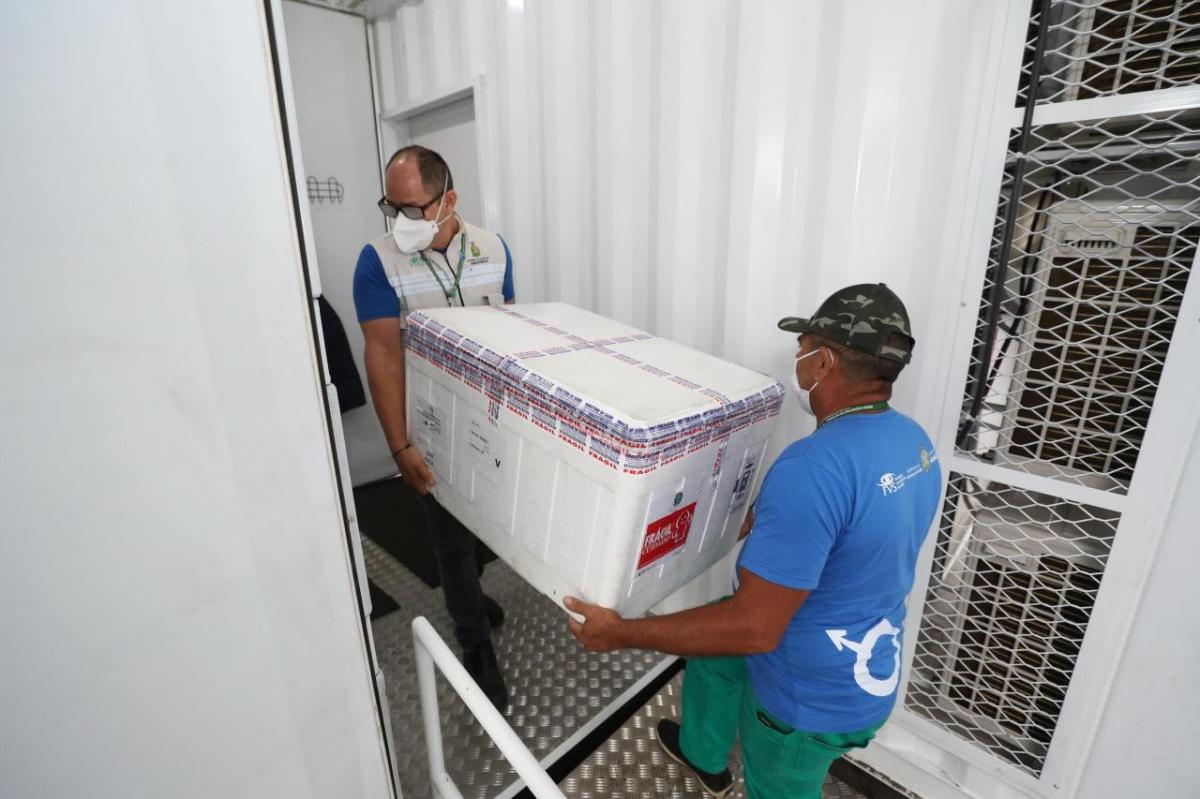 Amazonas recebe 253 mil doses de vacina contra a Covid-19