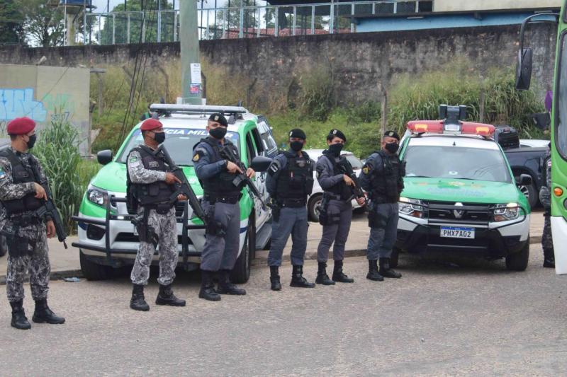 Em Manaus, Polícias do Amazonas e a Força Nacional deflagram operação 'Mão de Ferro' na zona oeste