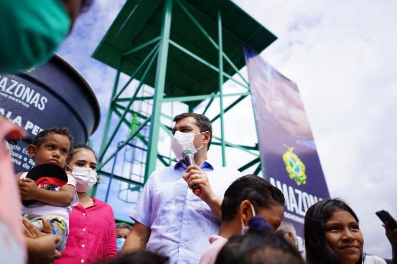 Governador Wilson Lima inaugura agência da Cosama e leva projeto 'Água Boa' para Nova Olinda do Norte