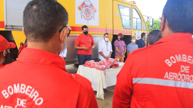 Prefeito Bi Garcia anuncia melhorias na seção contra incêndio do aeroporto Júlio Belém