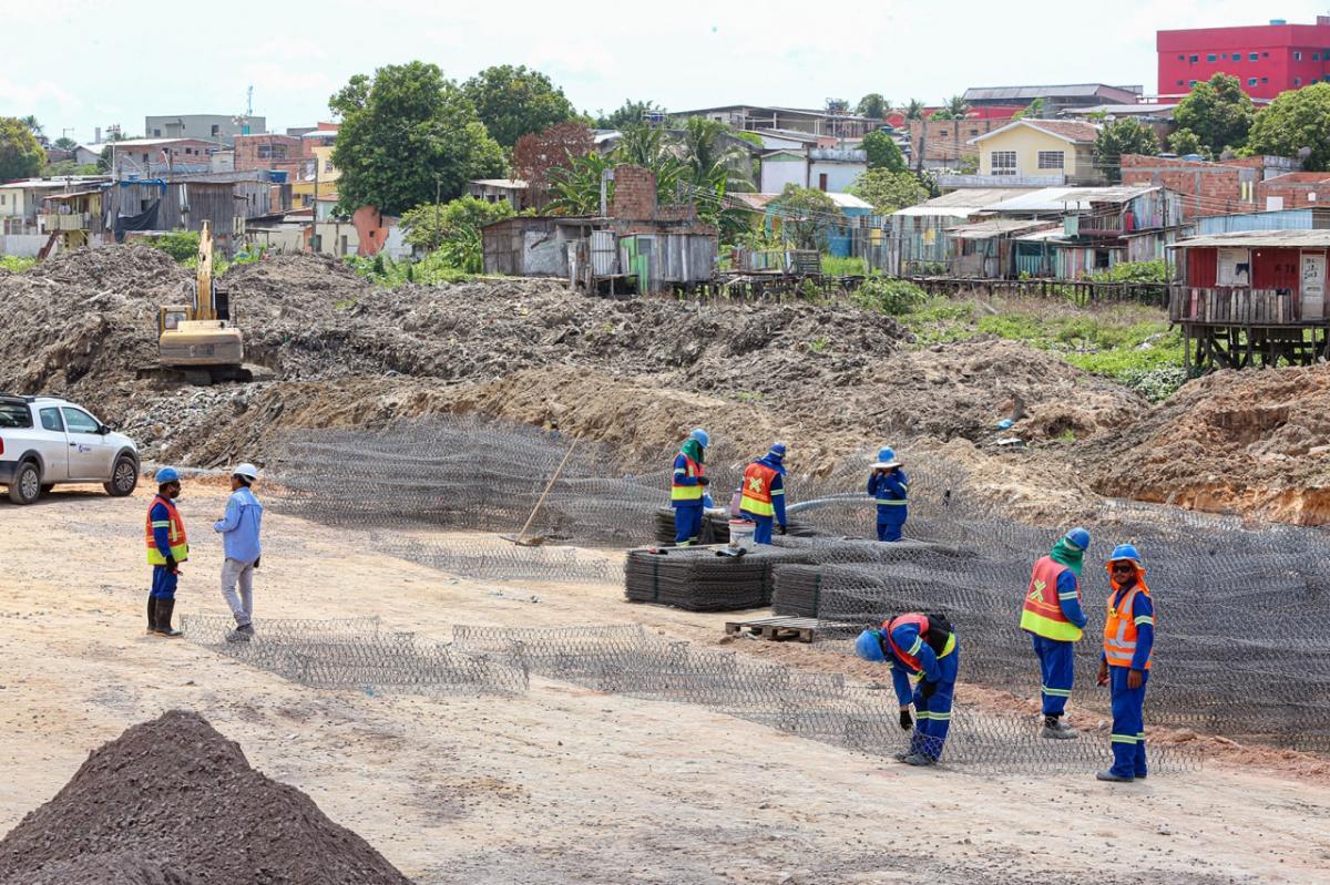 Governo avança na requalificação urbanística do Igarapé do 40