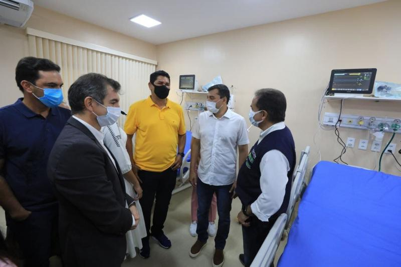Governador Wilson Lima inaugura leitos de UTI em Parintins, primeiro município do interior a ter os serviços especializados