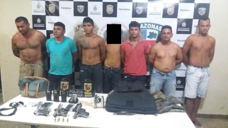 Prisão de quadrilha acusada de assaltar residência em Boa Vista do Ramos