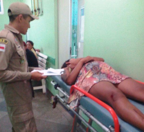Acidente em Vila Amazônia deixa grávida de oito meses ferida